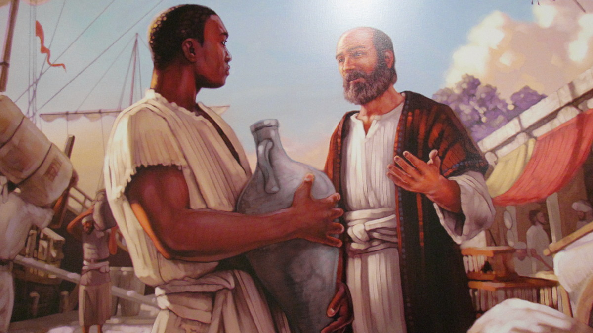 A photo of the painting which featured Apostle Paul as he shared the good news in the first century.