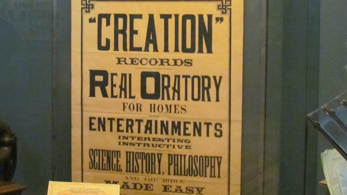 A part of history which is a sign that discuss the Creation Records display.