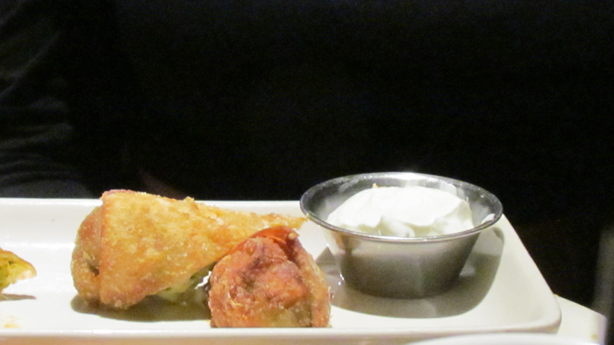Egg rolls were also selected from the menu.