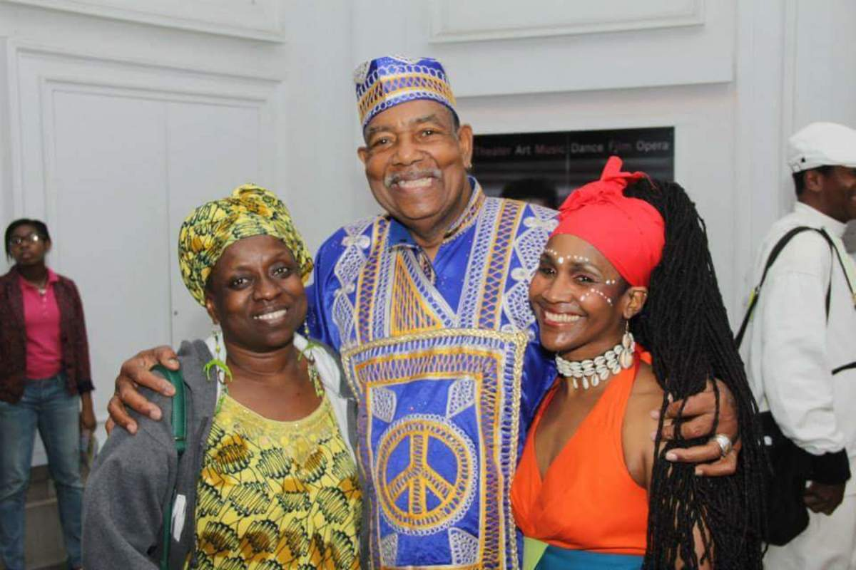 Sis. Omelika with Marie Basse and Baba Chuck Davis.