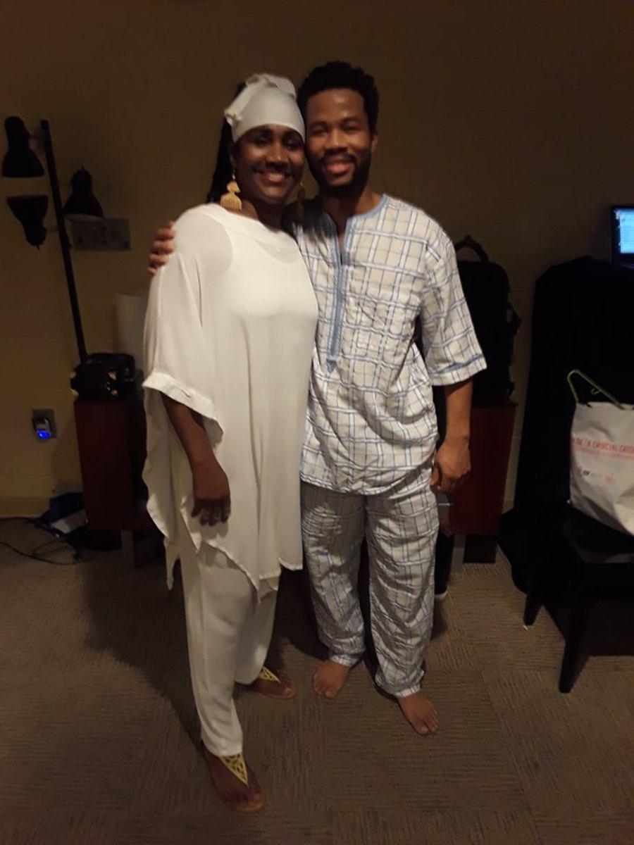Sis. Omelika with Munir Zakee at Black Nativity.