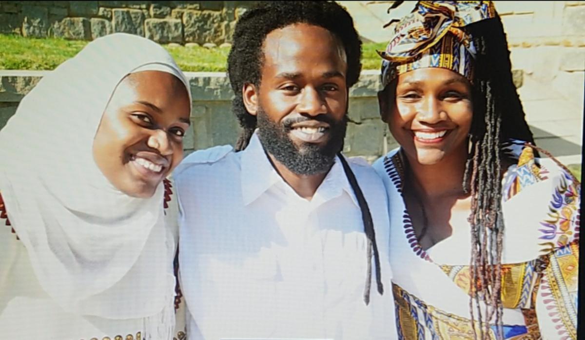 Sis. Omelika with her son, Akumba Ashanti and daughter, Zanaida Wakatama during her birthday photo-shoot with her family.