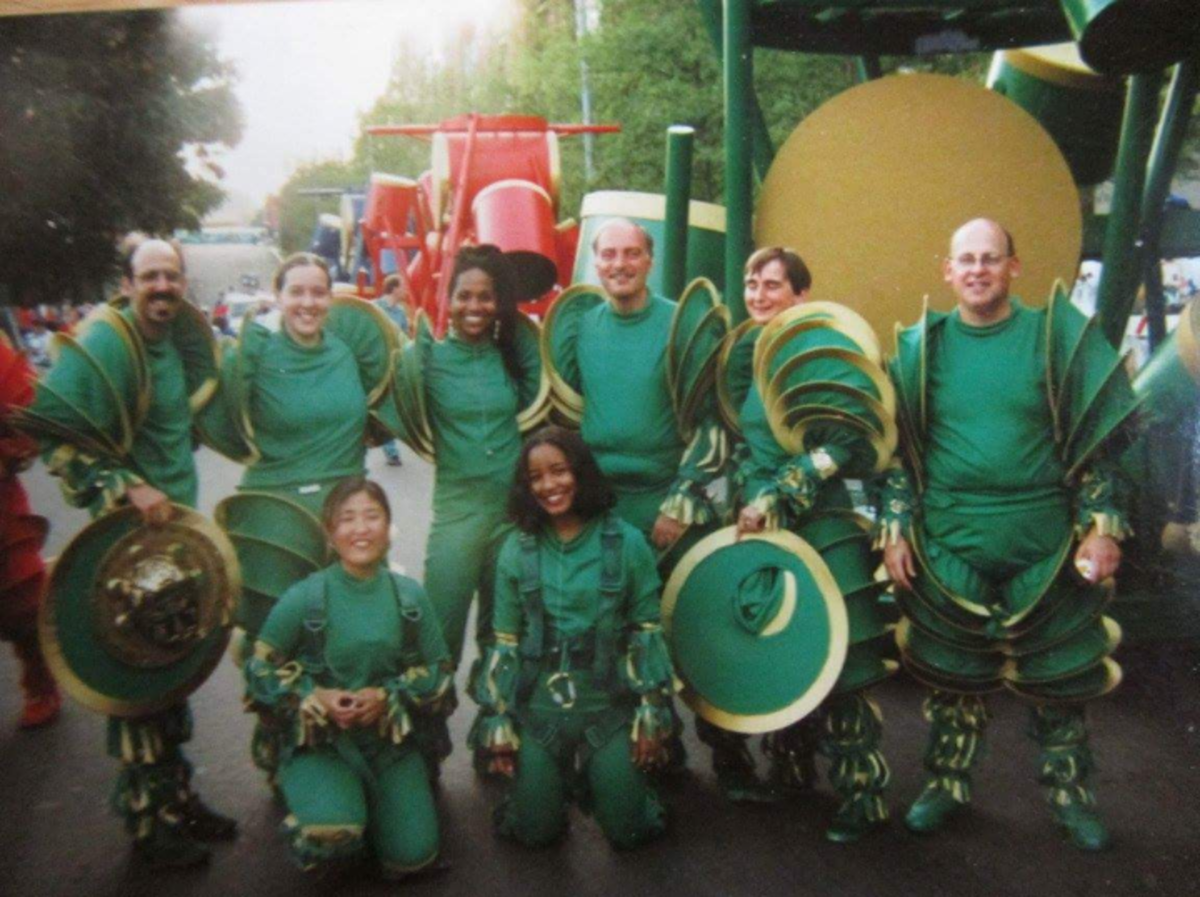 Sis. Omelika with the 'Green Tribe' before the Opening Ceremony for the 1996 Centennial Olympic Games in Atlanta.
