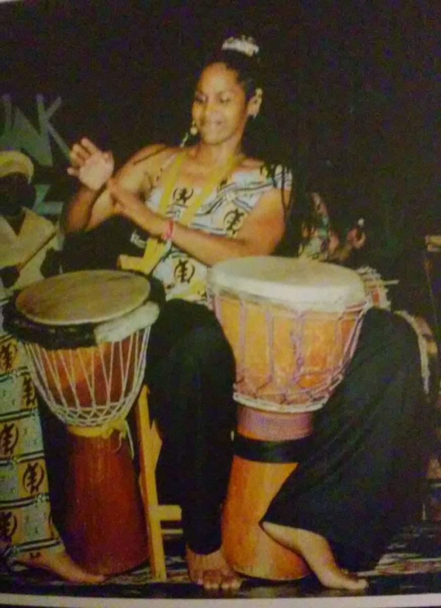 Sis. Omelika Rockin' on TWO Drums at FunkJazz Cafe' Festival.