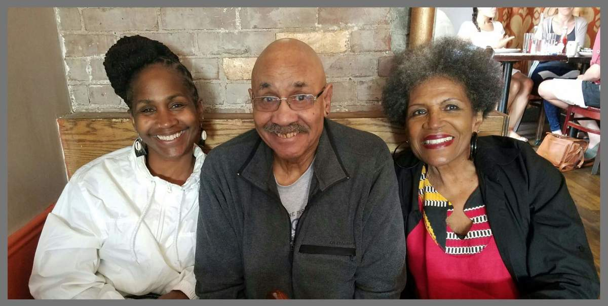 Sister Omelika with her parents, Osban W. Bynum & Phyllis M. Bynum.