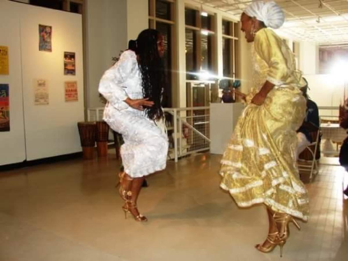 Sis. Omelika dancing with her inspiration: Zanaida Wakatama.