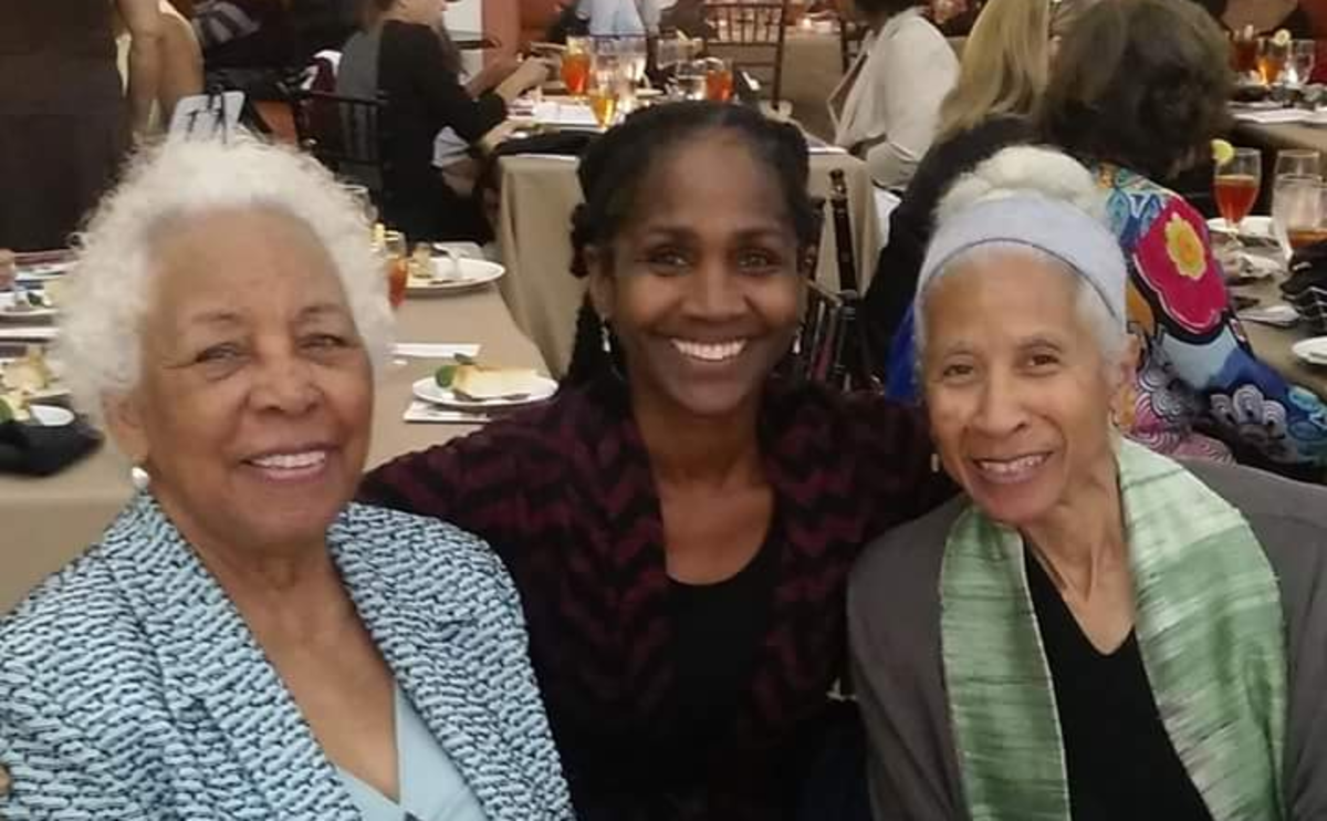 Sister Omelika with Ms. Mozel Spriggs and famed Choreographer, Dianne McIntyre. Ms. Spriggs was one of the teachers at Spelman who founded the school's children's dance program.