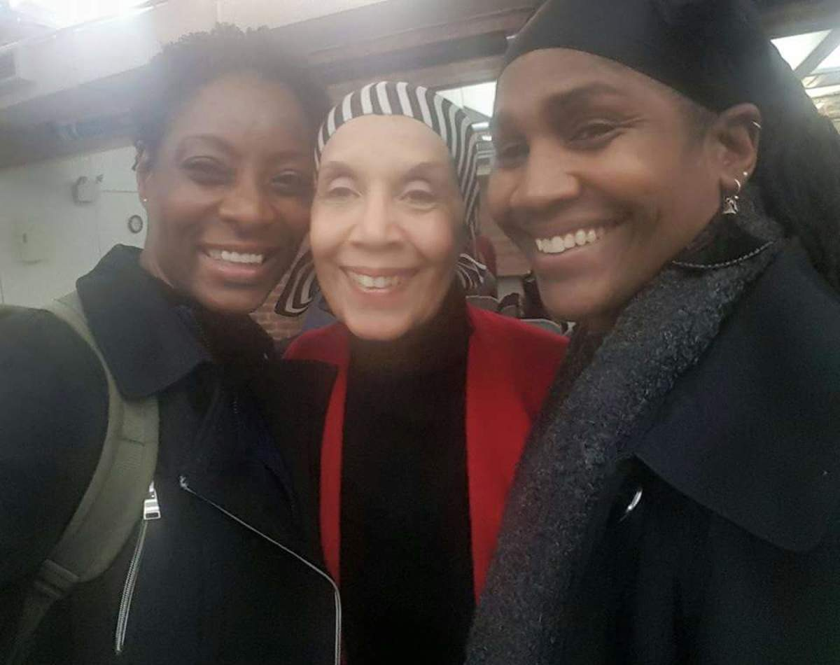 Sister Omelika with dance legend & Choreographer, Ms. Carmen de Lavallade and Faye McQueen