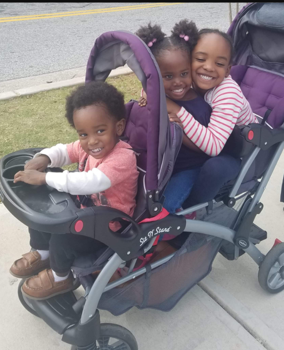 Sis. Omelika's grandchildren, Ismail Wakatama, Sahrayaa Ashanti and Saajidah Wakatama .