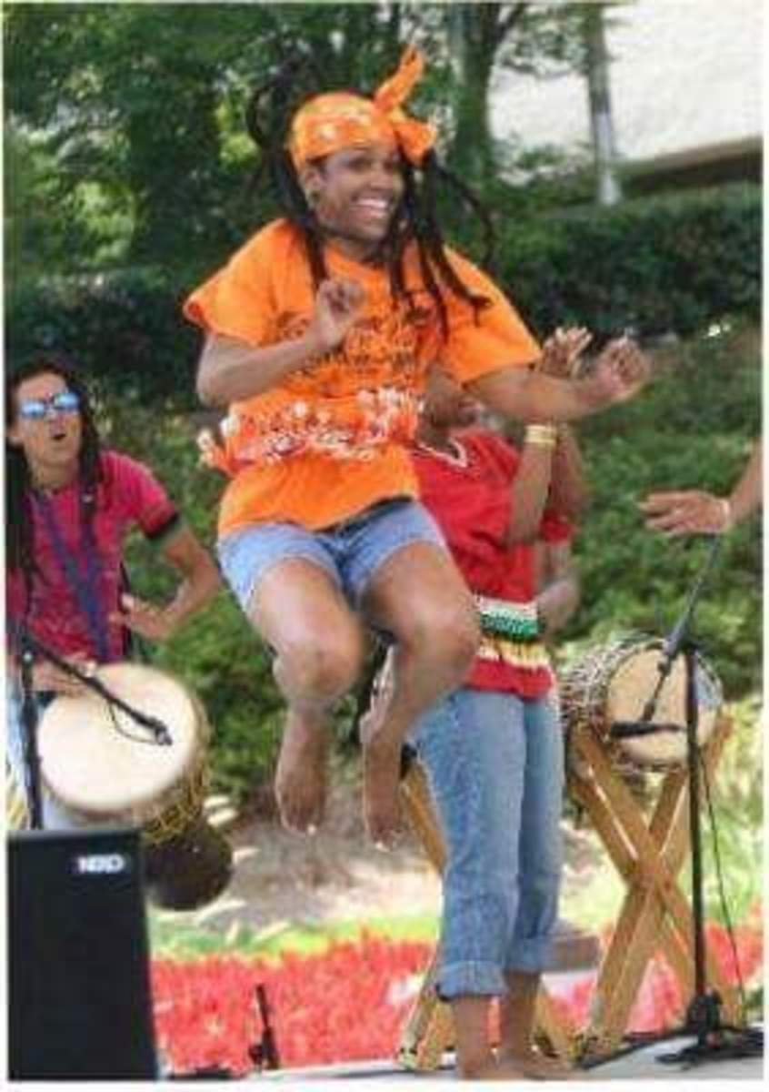 Sis. Omelika Dances During a National Black Arts Festival Performance.