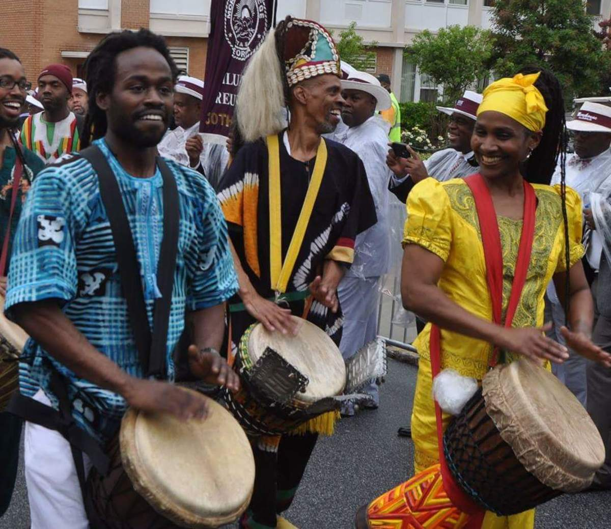 Playing with Ayinde Cartman, Akumba Ashanti & Harun Black During the Processional for Morehouse College's Class of 2013.