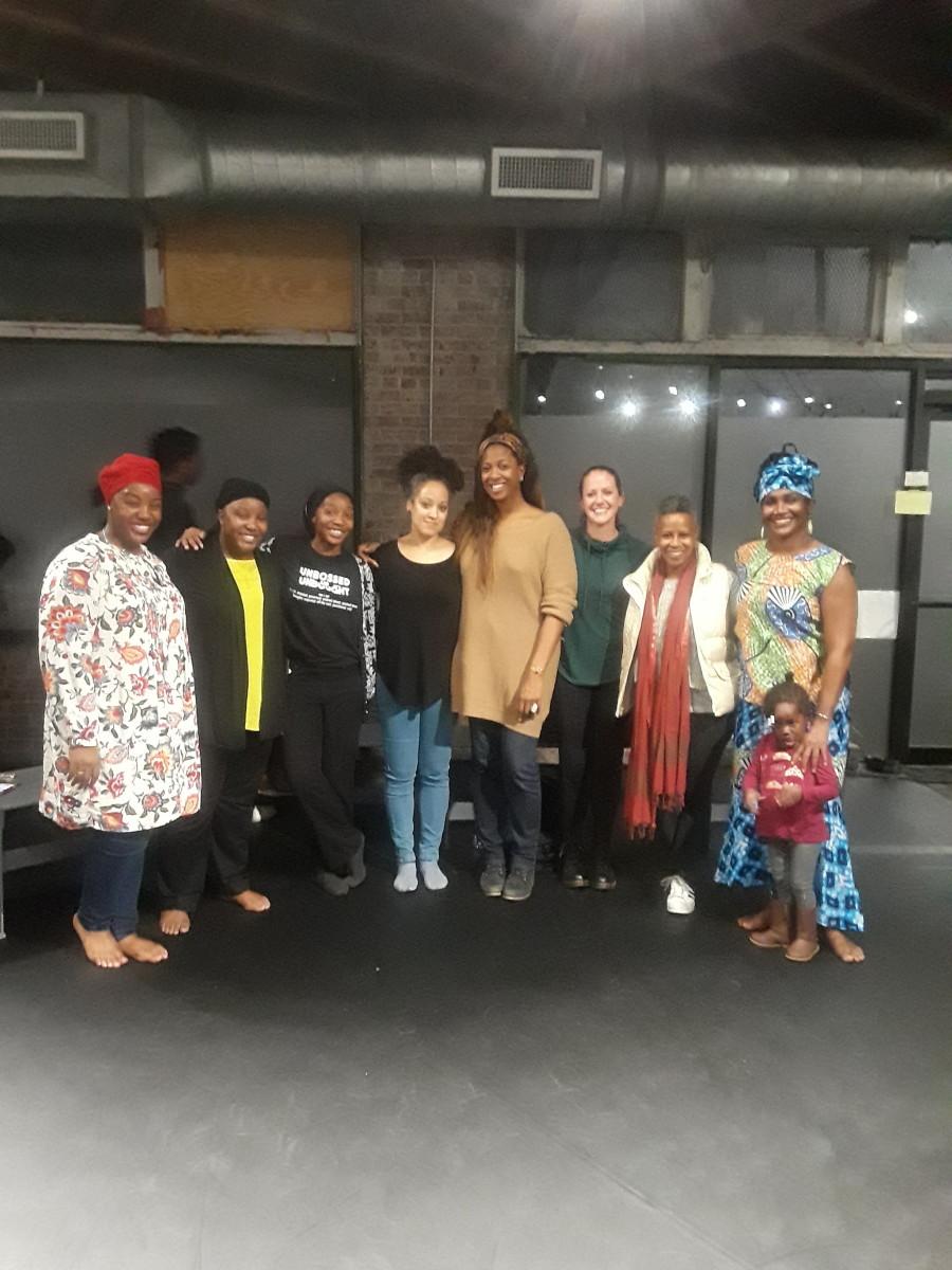 Spelman Colleagues, Prof. Hanan Davis, Khadijah Davis, Dr. Sakinah Davis, Dr. Julie B. Johnson, Prof. T Lang,  Prof. Kathleen Wessel, Prof. Aku Kadogo.