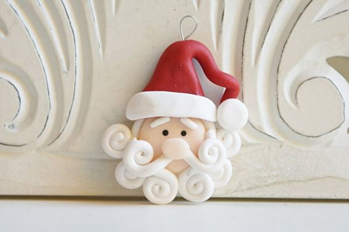 This Santa salt dough ornament is on sale at Etsy - see what you can do to make a beard...