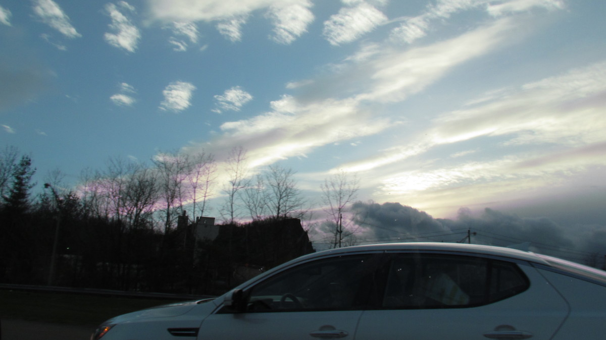 Intriguing cloud formations that we experienced on our way to the Tuxedo, New York headquarters of Jehovah's Witnesses.