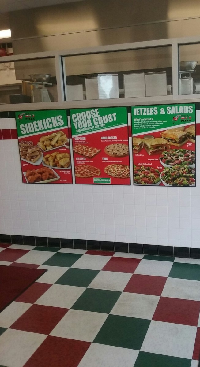Part of JET'S PIZZA FAST FOOD RESTAURANT interior.