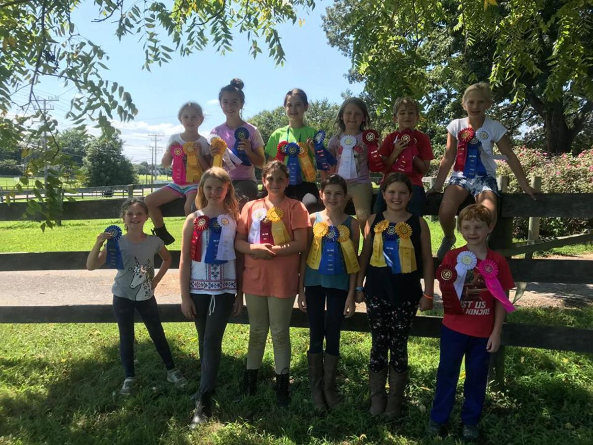 Horse crazy kids flock together as you can see at our summer camp!