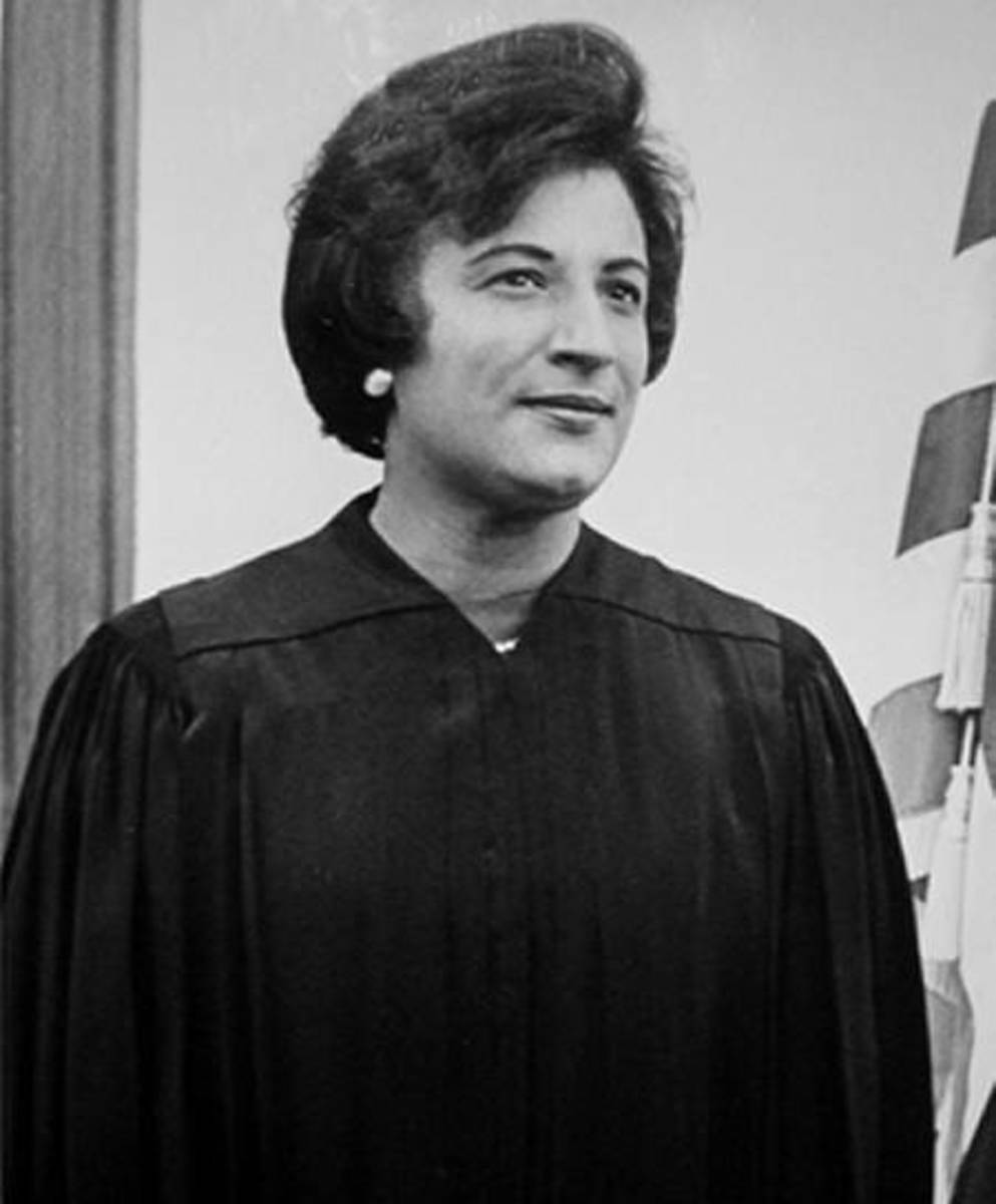 Federal Judge Constance Baker Motley, who as a young lawyer represented Martin Luther King Jr. and played a pivotal role in the nation's civil rights struggle.