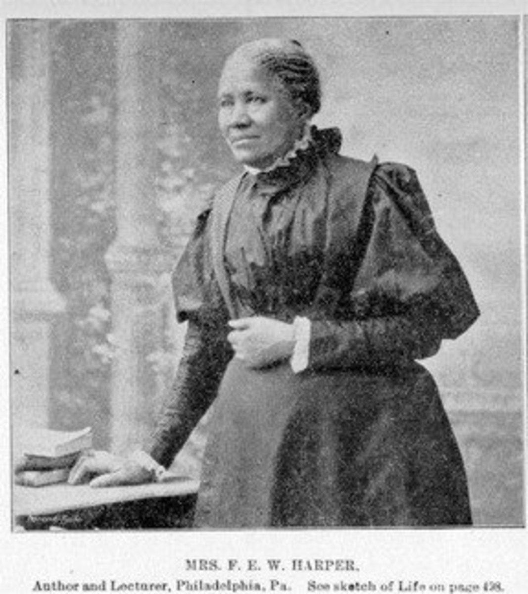 "Frances Ellen Watkins Harper, a poet and activist whose admirers called her ""The Bronze Muse."""