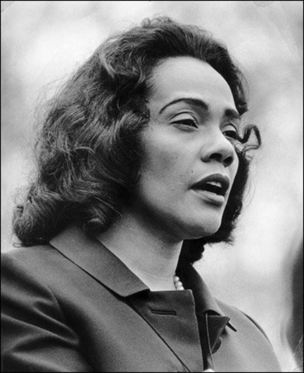 The strong women behind a strong man, Coretta Scott King.