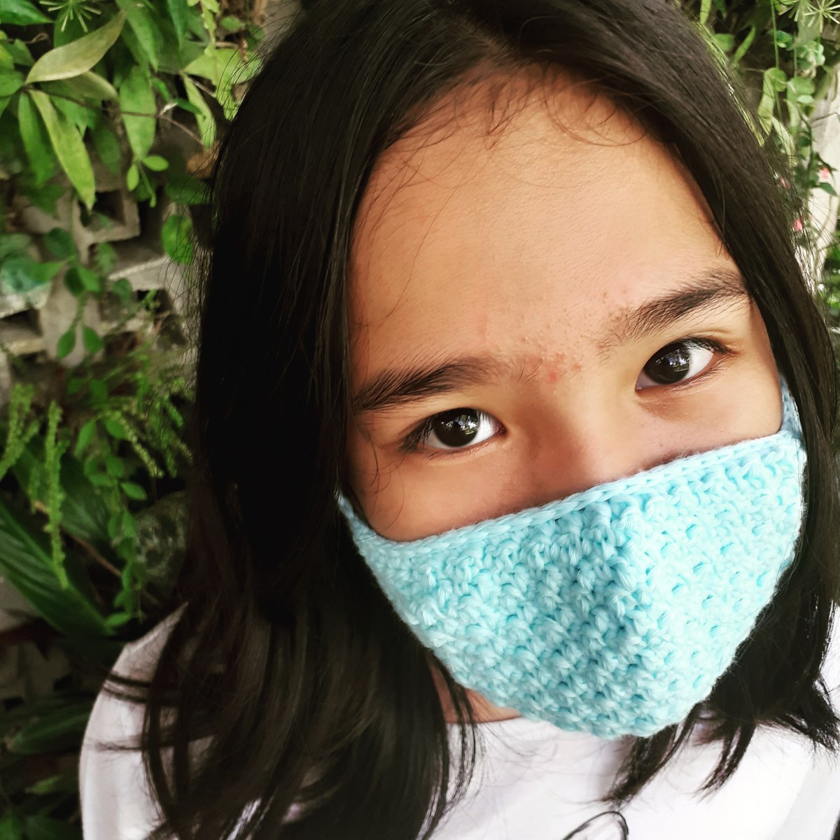 Crochet Seed Face Mask