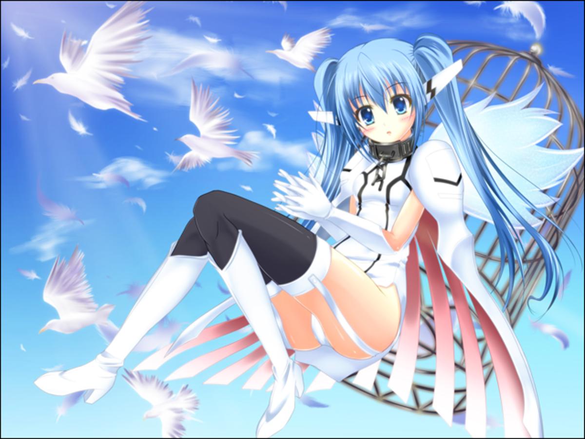 """Nymph """"Beta"""" from Sora no Otoshimono"""