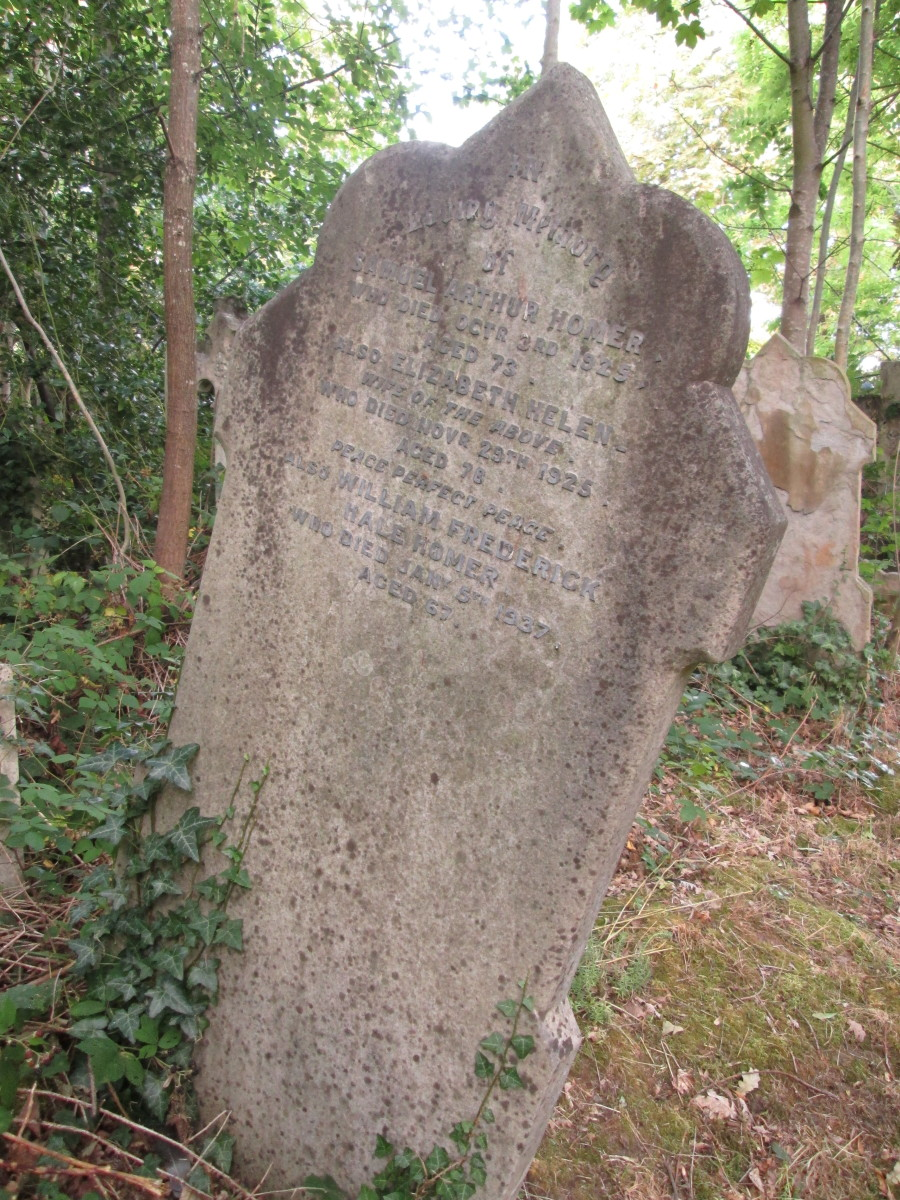 Much of the lettering and numbers on this stone tell us the bare facts, deaths early in the 20th Century inter-war years. The undergrowth around has only taken root or claimed many of the memorials around the Millennium