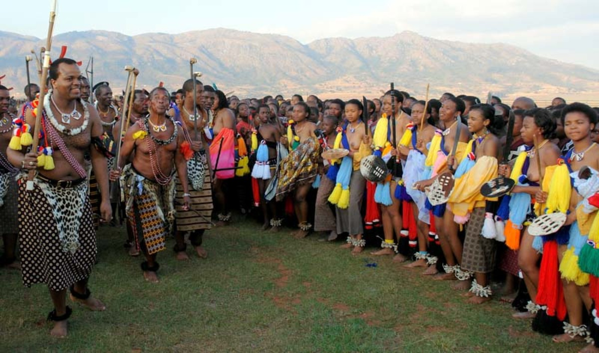 King Mswati III (The Reed dance Festival)