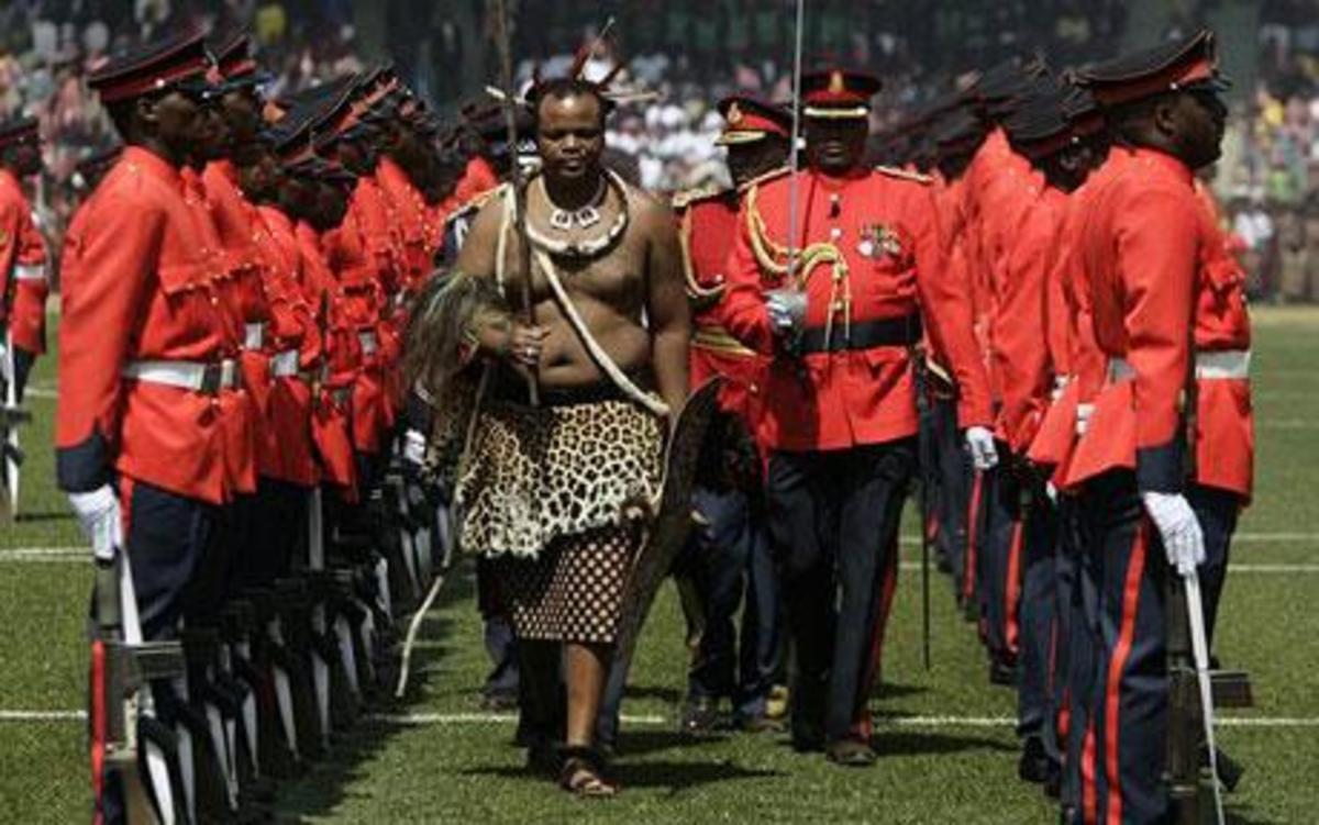 King Mswati III (The Reed dance Festival)