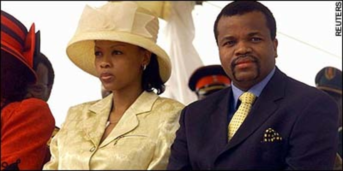 King Mswati III & One of his Queen