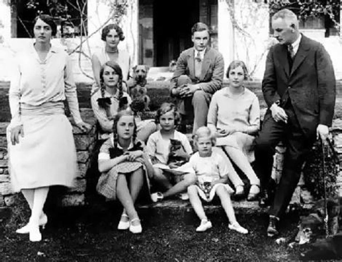 The Mitford family in 1925