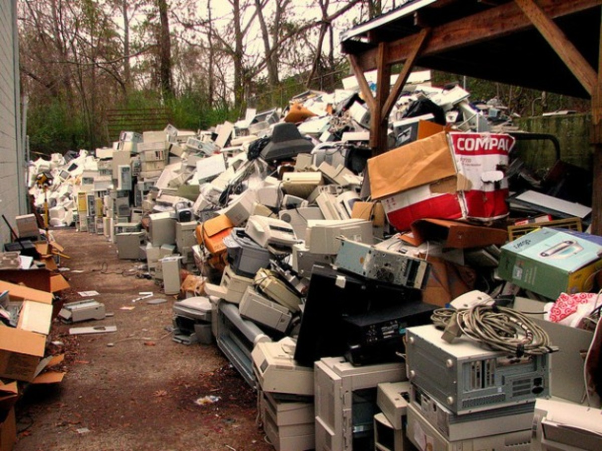 Computers, cell phone and other electronic goods have short shelve lives. As a result, the tremendous amount of waste, much of it toxic, and as hazardous material is shipped to Africa or Asia