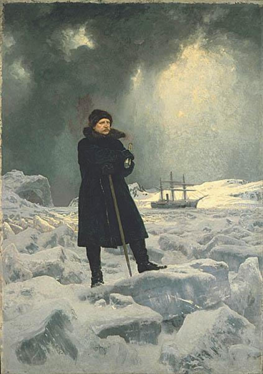 Adolf Nordenskiold, as painted by Georg Rosen in 1886.