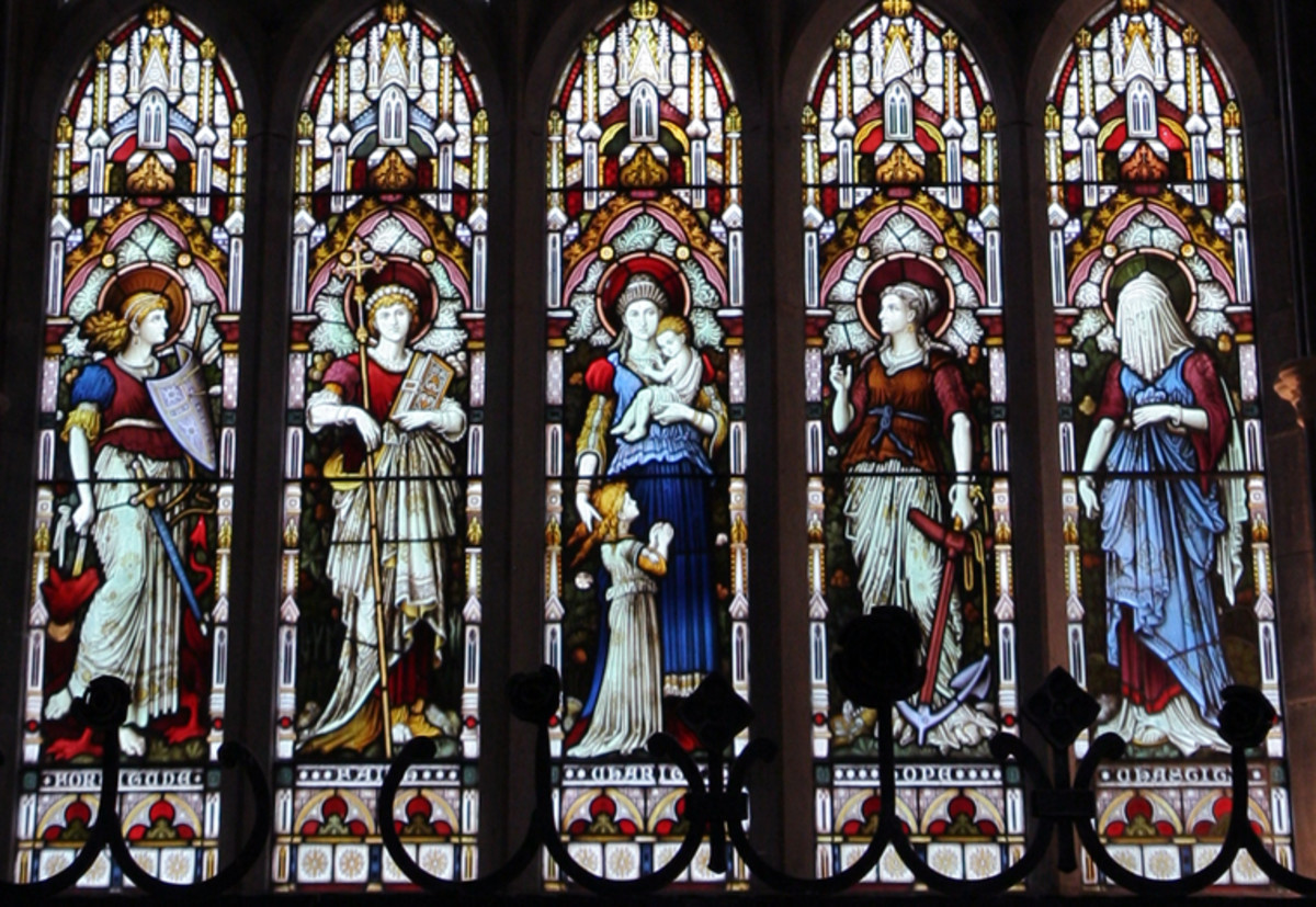 Stained Glass in Kylemore Abbey