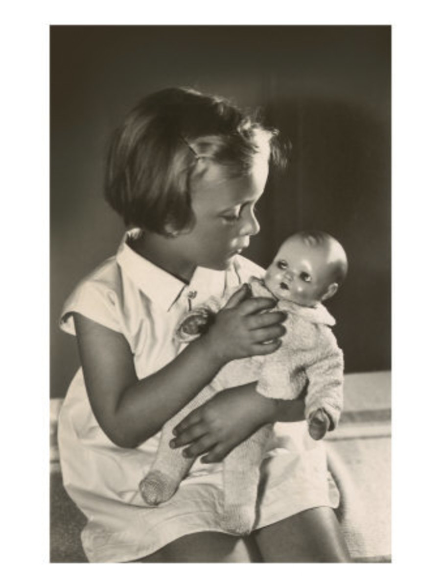 Girl with Baby Doll