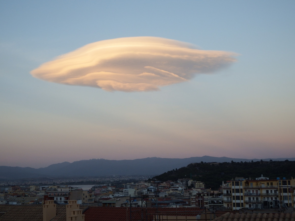 Lenticular Clouds over Cagliari