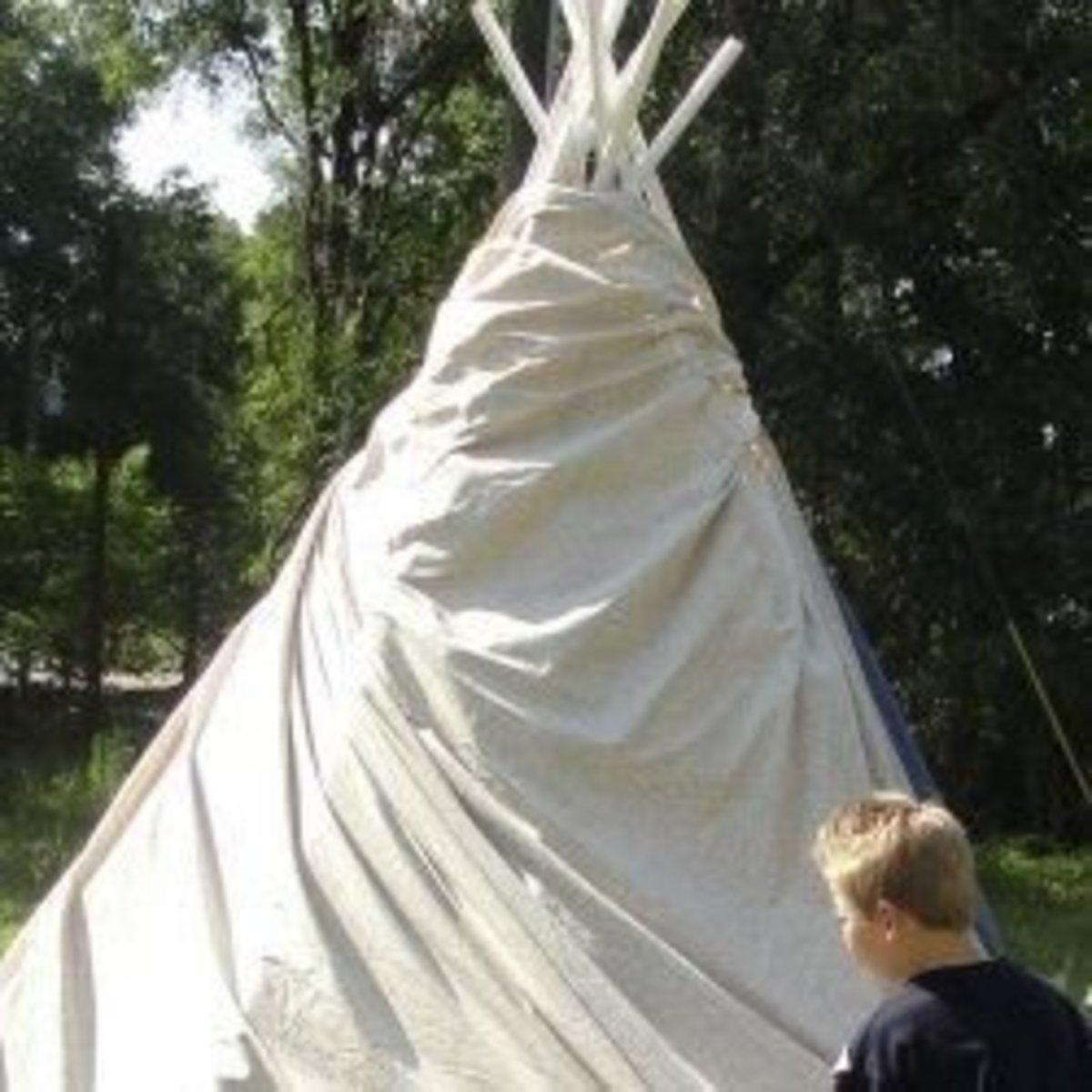 Setting up a tepee