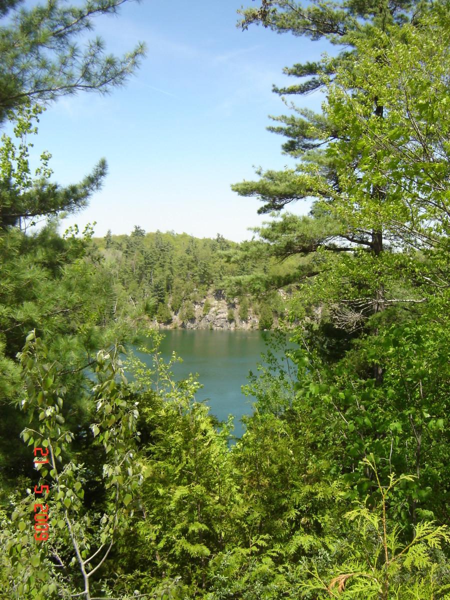 Pink Lake in Quebec's Gatineau Park