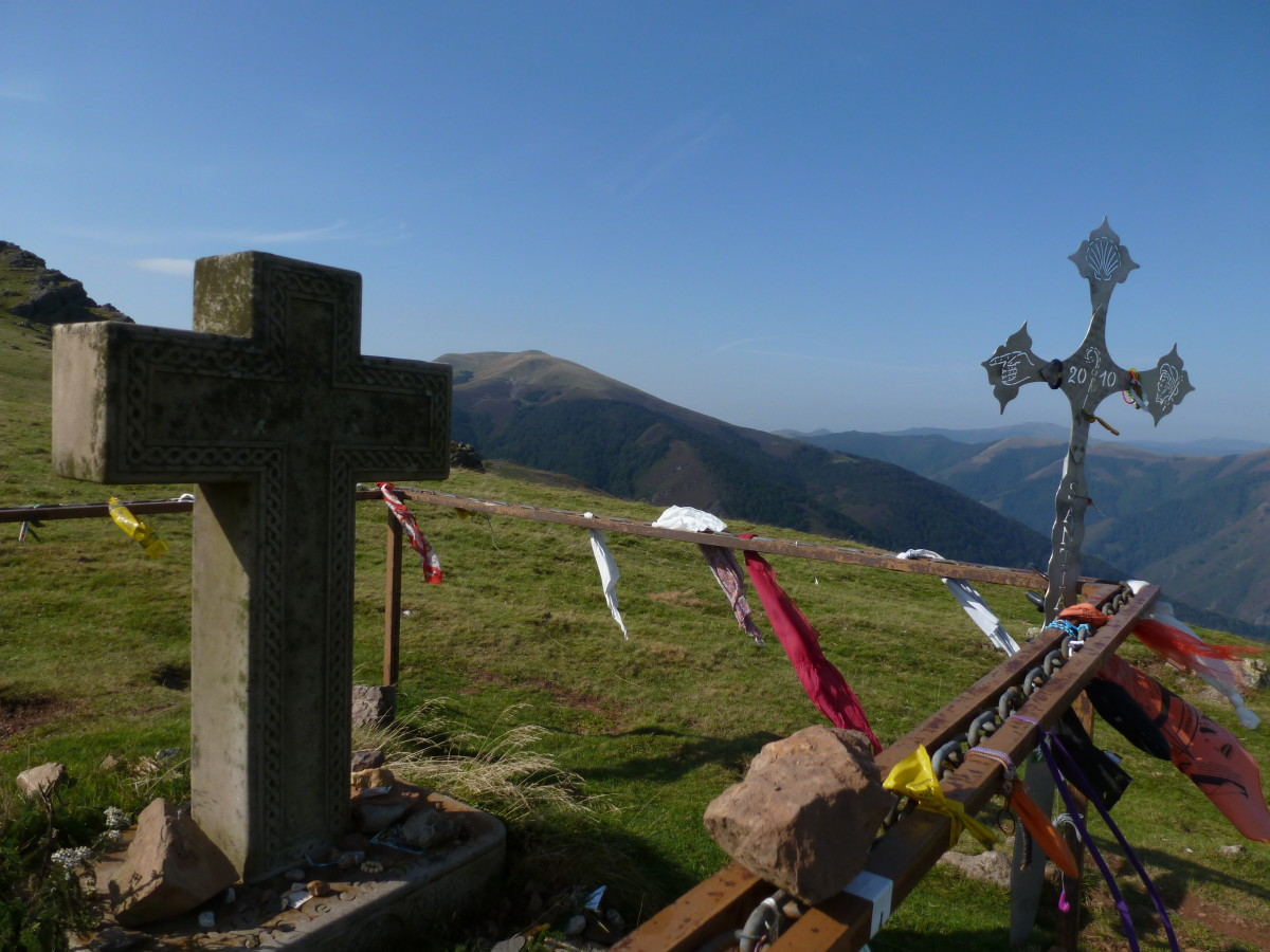 "Crosses on ""The Camino de Santiag"" also known as ""The Way of St. James"""