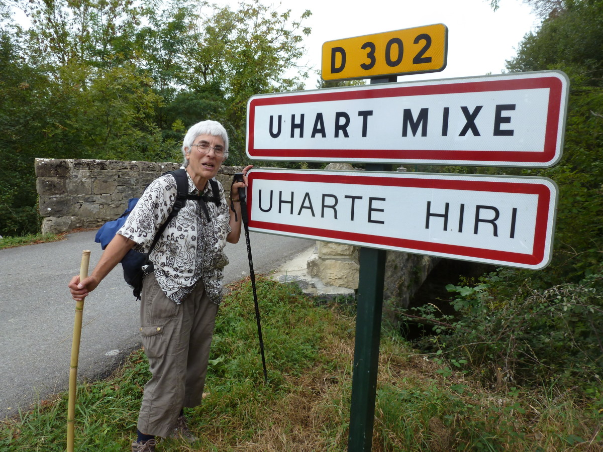 In Basque country the ancient Basque language is found on roadsigns and restaurant  menues.No blisters and my pack was less painful by the fouth day.