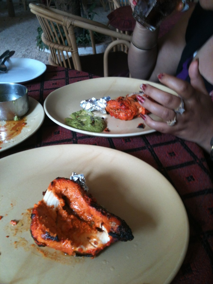 Tandoori chicken at Estrela do mar was also yummy.