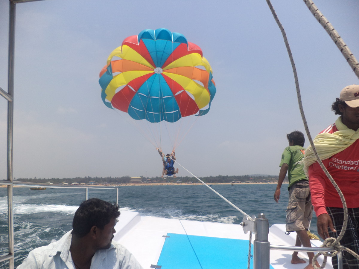 Parasailing in Goa - I will be sharing more photographs and videos with you in my upcoming hub. So be ready for the adventure in Goa.