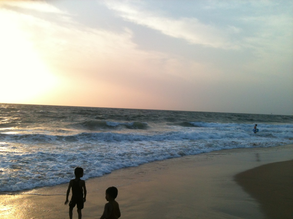 Photograph of Candolim Beach in Goa - peaceful and relaxing.