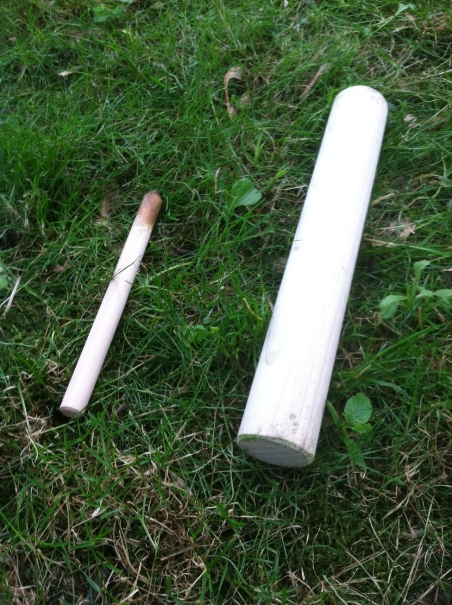 The stake(left) and stick(right)
