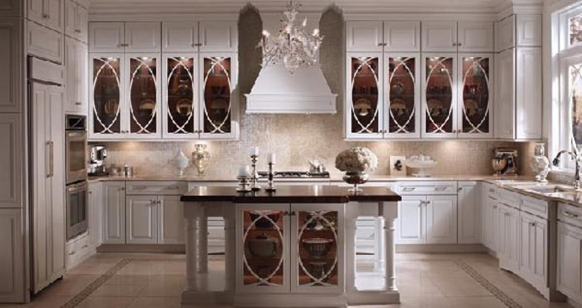 Dreamy White Kitchen Cabinets with Glass Doors & Home Improvement Ideas - White Kitchen Cabinets with Glass Doors ... kurilladesign.com