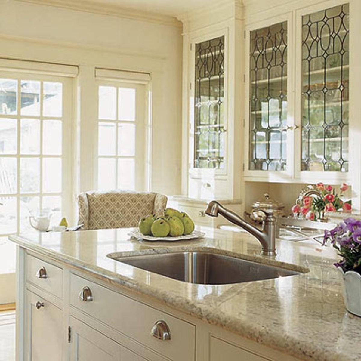 Leaded Glass Kitchen Doors
