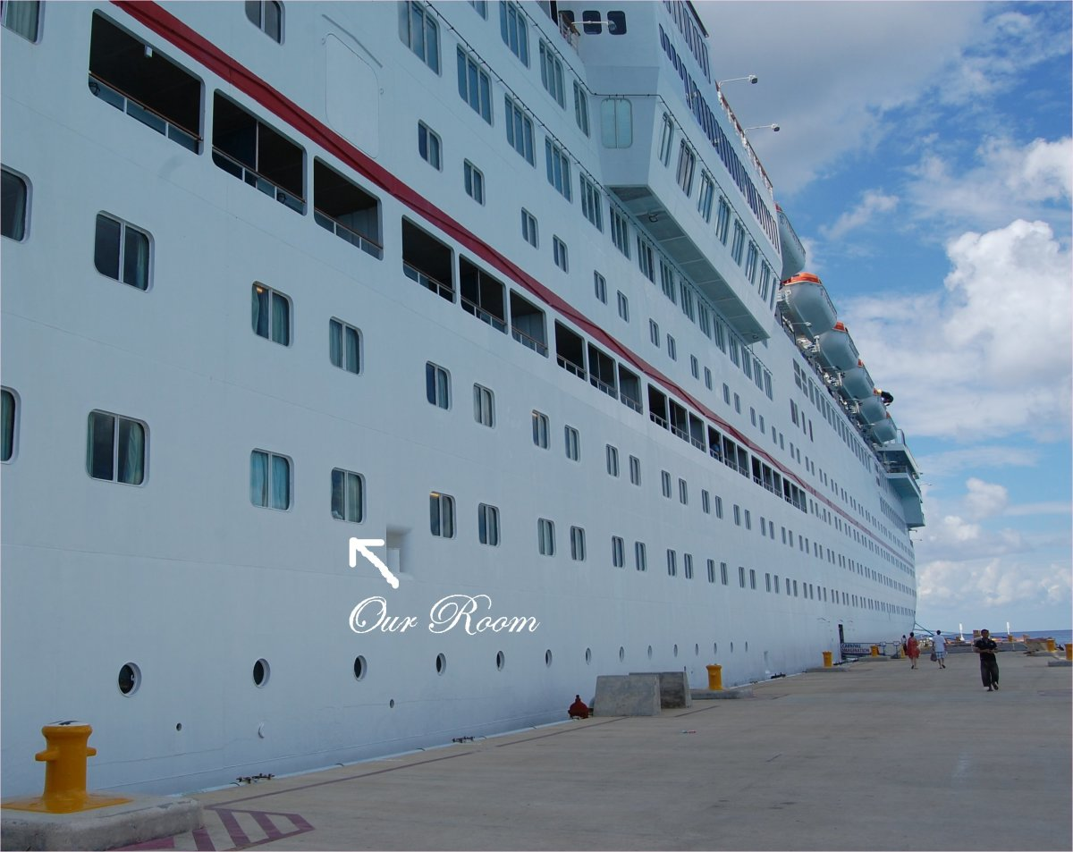 Our location on the Carnival Imagination
