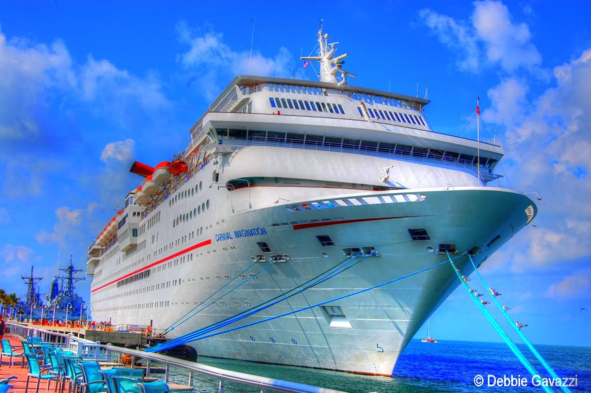 Carnival Imagination ship, docked in Key West, Florida