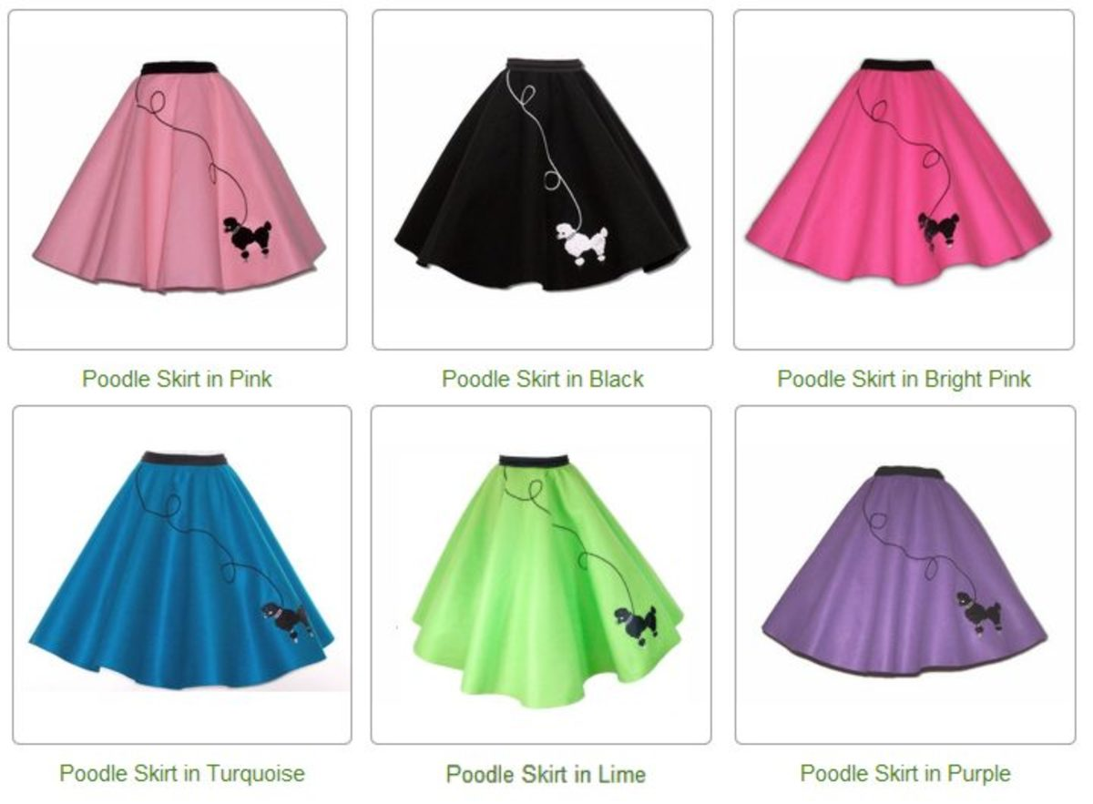 Poodle skirt combinations on Amazon