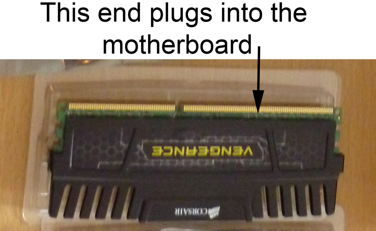 A 4GB stick of RAM, I've plugged two of those into my motherboard.