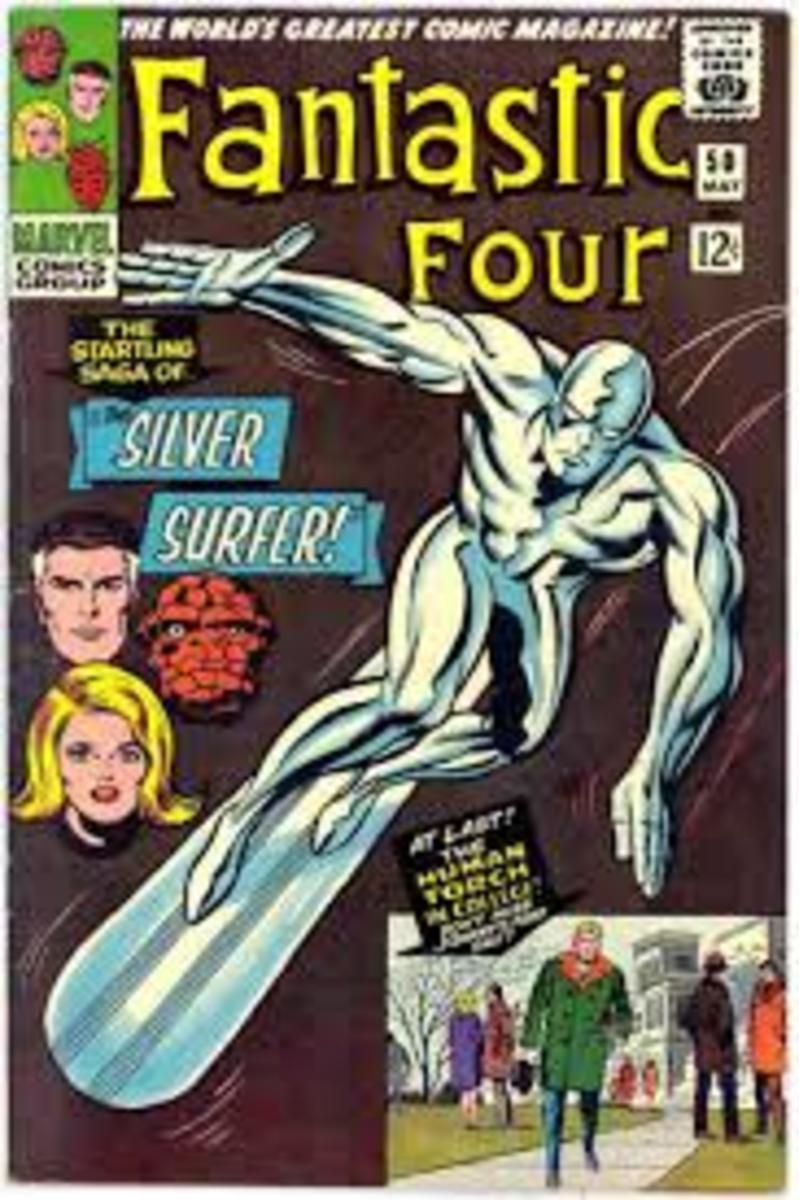 The Silver Surfer makes the cover of FF #50  the final part of the Galactus trilogy.